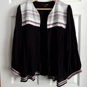 Striped Embroidery Top